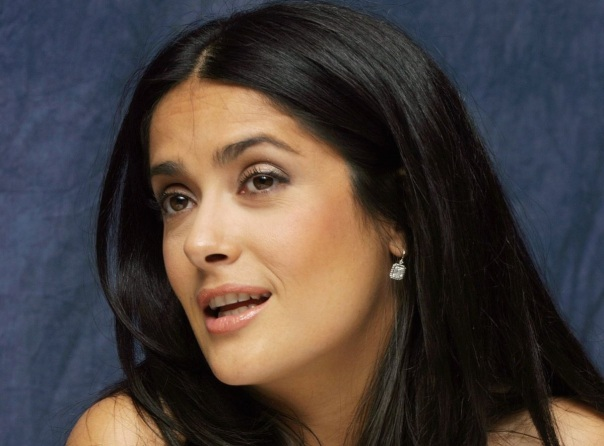 LOS ANGELES - NOVEMBER 16:  Actress Salma Hayek speaks with the media at the Beverly Wilshire Hotel on November 16, 2006 in Los Angeles, California. (Photo by Piyal Hosain/Fotos International/Getty Images)